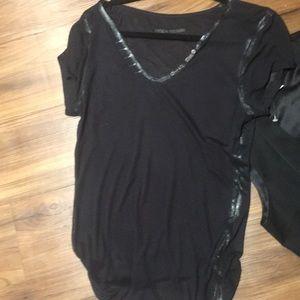 Zadig & Voltaire Tops - NWOT Zadig & Voltaire black trim on black T-shirt